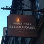 Photo taken at Vieux-Port Steakhouse (Restaurant du Vieux-Port) by CopiersOnSale on 6/10/2013