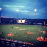 Photo taken at Disch-Falk Field by Brooke M. on 2/27/2013