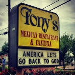 Photo taken at Tony's Mexican Restaurant by Beer P. on 7/22/2012