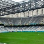 Photo taken at Arena da Baixada by Gisele Fernanda X. on 6/9/2014