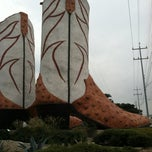 Photo taken at World's Largest Cowboy Boots by Trisha Lyn B. on 10/16/2012