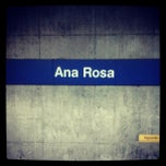 Photo taken at Estação Ana Rosa (Metrô) by Thaisa C. on 11/24/2012