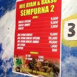 Photo taken at Mie Ayam & Bakso Sempurna Wonogiri by Little S. on 11/29/2013