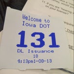 Photo taken at Iowa DOT License Station by John P. on 1/8/2013