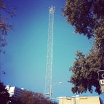 Photo taken at Moonlight Tower (11th & Trinity) by Andy R. on 11/24/2012