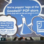 Photo taken at Pop! A Goodwill® Pop-Up Store @ SXSW by Jason F. on 3/10/2013