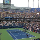 Photo taken at Arthur Ashe Stadium - USTA Billie Jean King National Tennis Center by Joey R. on 9/6/2012