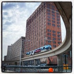 Photo taken at Grand Circus Park by Jean-Francois L. on 6/22/2013