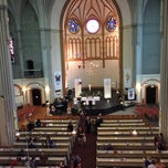 Photo taken at American Church in Berlin by Colleen C. on 4/26/2015