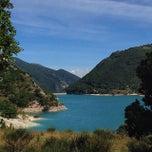 Photo taken at Lago di Fiastra by Ksenia M. on 9/23/2014