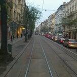 Photo taken at Štěpánská (tram) by Bogomil S. on 11/22/2013