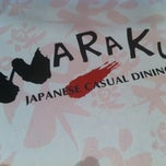 Photo taken at WARAKU Japanese Casual Dining by Jess baby on 10/28/2012