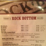 Photo taken at Rock Bottom Restaurant & Brewery by Katie S. on 1/31/2013