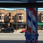 Photo taken at Lakewood Continental Barber Shop by Rick U. on 4/27/2013