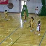 Photo taken at 草加市民体育館 by チチコーチ 信. on 8/23/2014