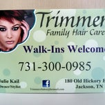 Photo taken at Trimmers Family Hair Care by Julie K. on 4/25/2014