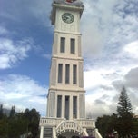 Photo taken at Jam Gadang by Amelia F. on 8/18/2013