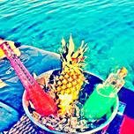 Photo taken at KafePi Beach Club by Kafe Pi S. on 6/24/2014