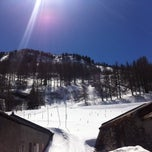 Photo taken at Val Cenis by Maud S. on 4/9/2015
