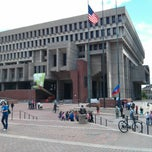 Photo taken at Boston City Hall by Kirstjen L. on 5/17/2013
