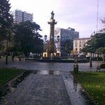 Photo taken at Plaza de la Independencia by Rodrigo N. on 6/1/2013