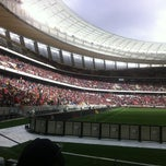 Photo taken at Cape Town Stadium by Jayde H. on 7/21/2012