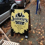 Photo taken at Junior's Cafe by Patrick C. on 11/10/2012