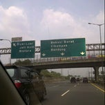 Photo taken at Jalan Tol Jakarta - Cikampek by Aldo A. on 9/24/2011