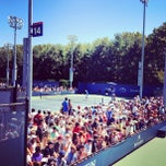 Photo taken at Court 14 - USTA Billie Jean King National Tennis Center by Greg B. on 8/29/2012