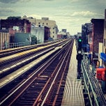 Photo taken at MTA Subway - Halsey St (J/Z) by Kim S. on 6/2/2012