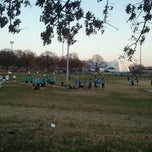 Photo taken at Patterson Park Kickball by Anna A. on 3/14/2012
