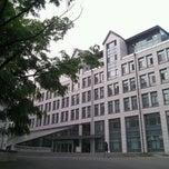 Photo taken at 이화여자대학교 포스코관 (Ewha Womans University POSCO Building) by Jeanne Jihyun K. on 5/12/2012