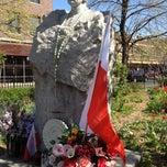 Photo taken at Father Jerzy Popiełuszko Square by Zbigniew R. on 4/13/2012