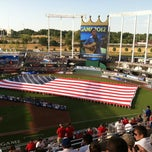 Photo taken at Kauffman Stadium by Adam B. on 7/10/2012