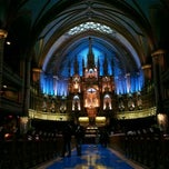 Photo taken at Basilique Notre-Dame by Bernadette on 12/1/2011