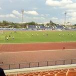 Photo taken at สนามกีฬาจังหวัดพระนครศรีอยุธยา by Pat~Cha A. on 5/16/2012
