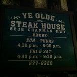 Photo taken at Ye Olde Steak House by Hank M. on 11/6/2011