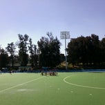 Photo taken at Estadio Panamericano de Hockey by Rene Alejandro S. on 10/26/2011