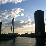 Photo taken at 中央大橋 (Chuo-Ohashi Bridge) by Naoki M. on 11/6/2011