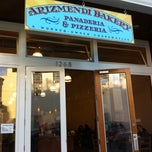 Photo taken at Arizmendi Bakery Panaderia & Pizzeria by Sean G. on 2/24/2011