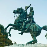 Photo taken at Andrew Jackson Statue by IWalked Audio Tours on 9/9/2012