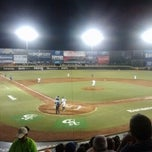 Photo taken at Estadio de Beisbol Eduardo Vasconcelos by Eddie R. on 8/7/2012