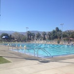 Photo taken at Palm Desert Aquatic Center by Robbie B. on 2/23/2012