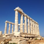 Photo taken at Ακρωτήρι Σουνίου (Cape Sounion) by Meng J. on 6/18/2012