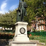 Photo taken at Severn Teackle Wallis Statue by Alice Y. on 4/8/2012