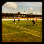 Photo taken at Voetbalterreinen KVE AALTER by Tom A. on 4/14/2012