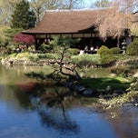 Photo taken at Shofuso Japanese House & Garden by Juan V. on 4/7/2012