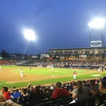 Photo taken at Northeast Delta Dental Stadium by Craig B. on 8/25/2012