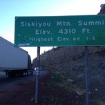 Photo taken at Siskiyou Summit by Kevin C. on 7/24/2012