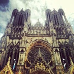 Photo taken at Cathédrale Notre-Dame de Reims by Moonsieur P. on 8/5/2012